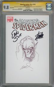 Amazing Spider-man  #648 CGC 9.8 Signature Series Signed x3 Stan Lee Goblin Sketch Marvel comic